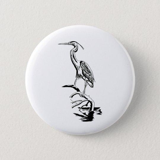 kranich runder button 5,1 cm