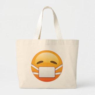Krank - Emoji Jumbo Stoffbeutel