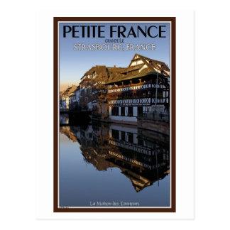 Kranke Fluss Reflexionen Straßburgs - Postkarte