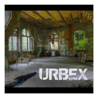 Krankenhaus Beelitz 02, verlorene Plätze, URBEX Poster