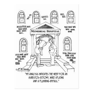 Krankenhaus benötigt ein Asbest-ectomy Postkarte