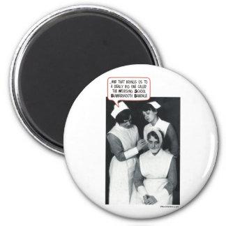 Krankenpflege-Schulblabbermouth-Verband Runder Magnet 5,1 Cm