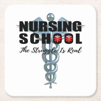 Krankenpflege-Schule der Kampf ist wirklich Rechteckiger Pappuntersetzer
