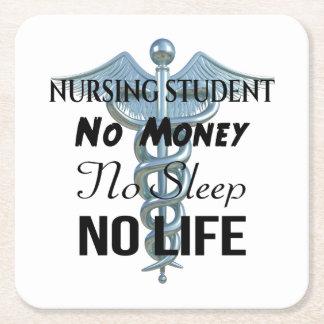 Krankenpflege-Studenten-lustiges Rechteckiger Pappuntersetzer