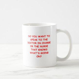 Krankenpflegewitz Kaffeetasse