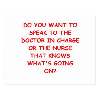 Krankenpflegewitz Postkarte