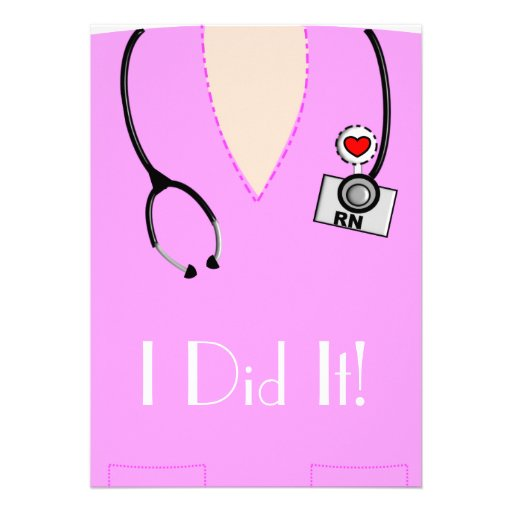 Krankenschwester-Abschluss-Einladungs-Rosa Ankündigung