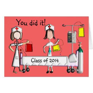 Krankenschwester-Abschluss-Karten-Klasse von 2014 Mitteilungskarte