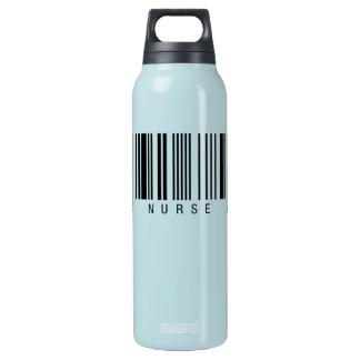 Krankenschwester-Barcode Isolierte Flasche