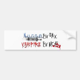Krankenschwester bis zum Tag, Vampir bis zum Nacht Autoaufkleber