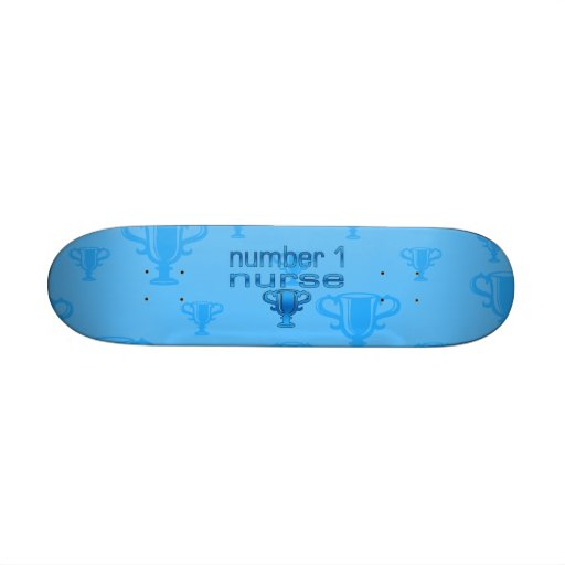 Krankenschwester der Nr.-1 im Blau Skateboard Brett