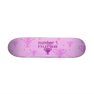 Krankenschwester der Nr.-1 im Rosa Personalisierte Skateboards
