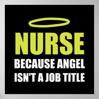 Krankenschwester-Engels-Stellenbezeichnung Poster