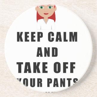 Krankenschwester, entfernen Ihre Hosen Sandstein Untersetzer