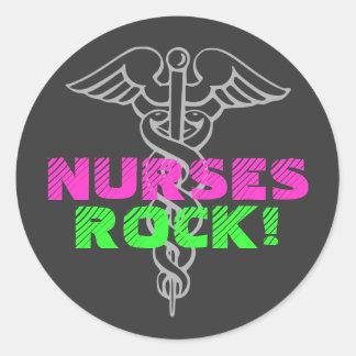 Krankenschwester-Felsen! Aufkleber