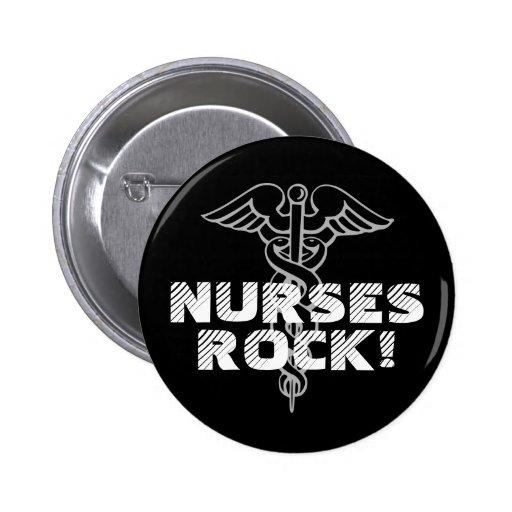 Krankenschwester-Felsen! Pinback Knopf für Pflegek Anstecknadelbutton