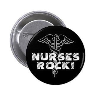 Krankenschwester-Felsen! Pinback Knopf für Pflegek Runder Button 5,1 Cm