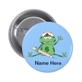 Krankenschwester-Frosch-Knopf Runder Button 5,7 Cm