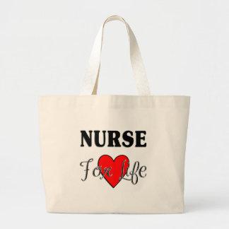 Krankenschwester für das Leben Jumbo Stoffbeutel