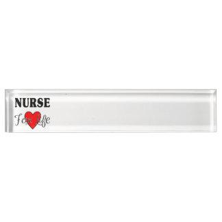 Krankenschwester für das Leben Schreibtischplakette