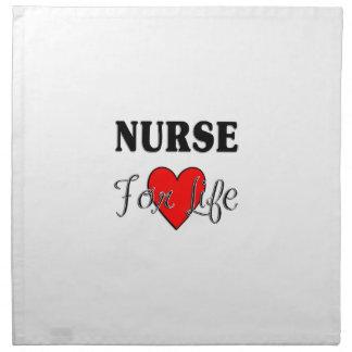 Krankenschwester für das Leben Serviette