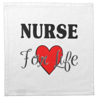 Krankenschwester für das Leben Stoffserviette