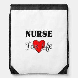 Krankenschwester für das Leben Turnbeutel