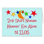 """Krankenschwester-Geschenke """"2. Schiebekrankenschwe Grußkarten"""