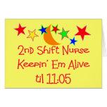 """Krankenschwester-Geschenke """"2. Schiebekrankenschwe Karten"""