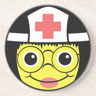 Krankenschwester-Gesicht Sandstein Untersetzer