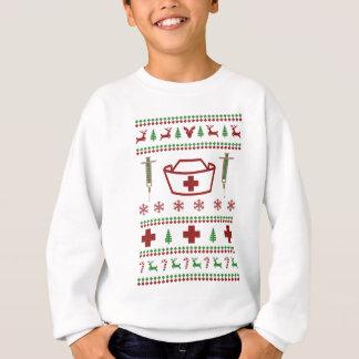 Krankenschwester-hässliche Weihnachtsstrickjacke Sweatshirt