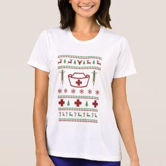 Krankenschwester-hässliche Weihnachtsstrickjacke T-Shirt