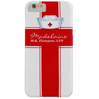 Krankenschwester-Hut in der roten und weißen Barely There iPhone 6 Plus Hülle