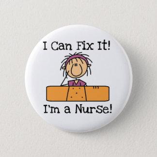 Krankenschwester I kann es regeln T - Shirts und Runder Button 5,1 Cm
