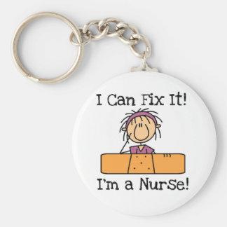 Krankenschwester I kann es regeln T - Shirts und Standard Runder Schlüsselanhänger