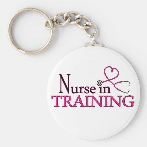 Krankenschwester im Training - Rosa Schlüsselband