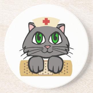 Krankenschwester-Kätzchen Untersetzer