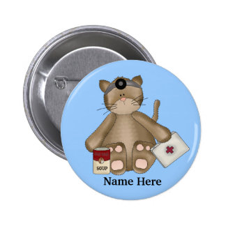 Krankenschwester-Katzen-Knopf Runder Button 5,1 Cm