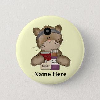 Krankenschwester-Katzen-Knopf Runder Button 5,7 Cm