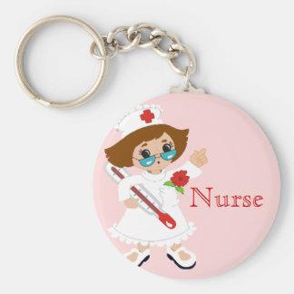 Krankenschwester Keychain Standard Runder Schlüsselanhänger