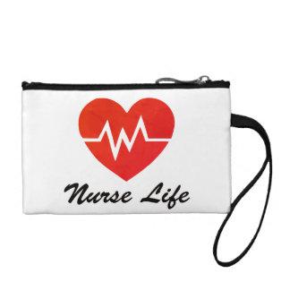 Krankenschwester-Leben, EKG Herz-Muster Kleingeldbörse
