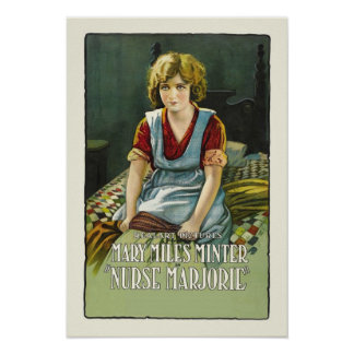 Krankenschwester Marjorie Vintager Film-Plakat-Dru Poster