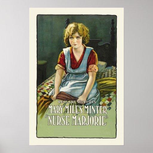 Krankenschwester Marjorie Vintager Film-Plakat-Dru