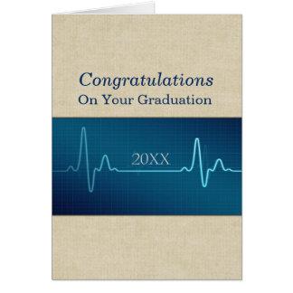 Krankenschwester medizinisch oder Doktor Graduate Karte