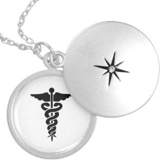 Krankenschwester-medizinischer SymbolCaduceus Runde Medaillon Halskette