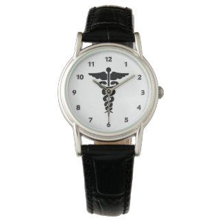 Krankenschwester-medizinisches Symbol Uhr