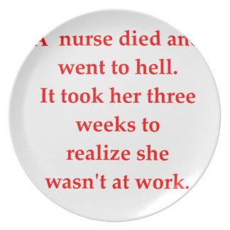 Krankenschwester Melaminteller