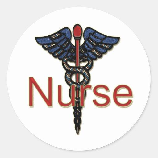 Krankenschwester mit Caduceus Stickers