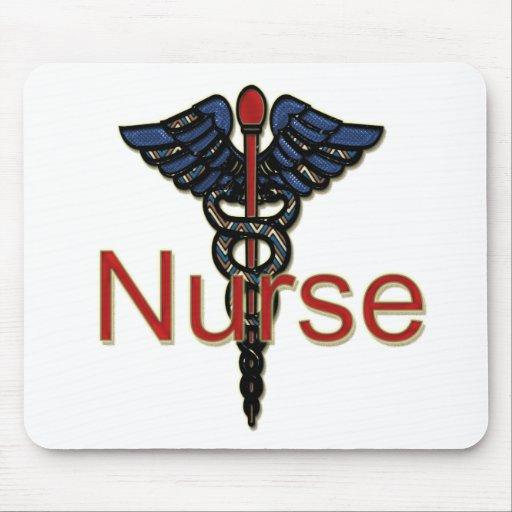 Krankenschwester mit Caduceus Mauspad