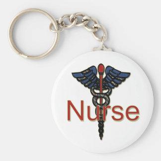 Krankenschwester mit Caduceus Schlüsselbänder
